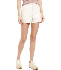 women's madewell perfect military twill shorts, size 27 - none