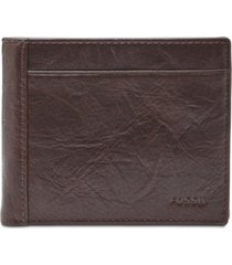 fossil men's neel leather coin-pocket wallet