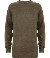 sweater brave soul verde - calce regular