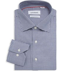 contemporary-fit houndstooth shirt