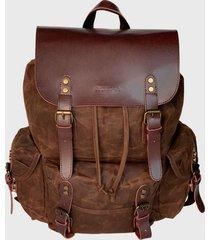 mochila  roma  marrón rocha