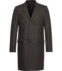 tailored wool coat wollen jas lange jas grijs junk de luxe