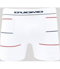 cueca masculina duomo boxer com listras sem costura branca