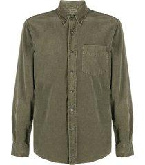 aspesi corduroy long-sleeved cotton shirt - green