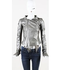 rick owens leather wool & silk biker jacket