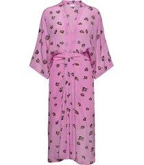 dress w. draped look knälång klänning rosa coster copenhagen