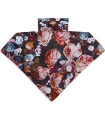 bindya women's floral mask scarf - pink multi