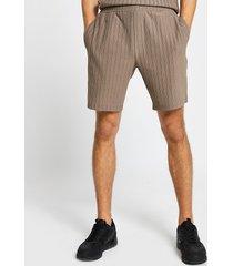 river island mens brown textured ribbed slim fit shorts