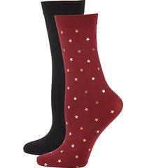 2-pack star-print trouser socks
