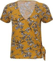 camiseta amarilla flores color amarillo, talla 12