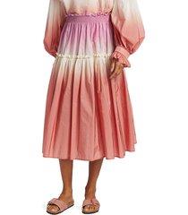 sea women's zanna dip-dye skirt - bubblegum - size 6