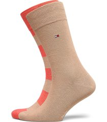 th men rugby sock 2p underwear socks regular socks beige tommy hilfiger