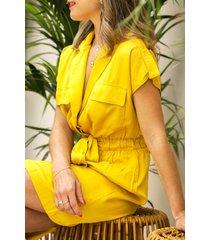 invito jurk geel may