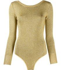 forte forte body oro de tricô - dourado