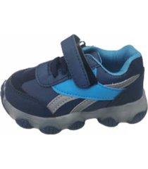 zapatillas velcro azul vinnys outlet