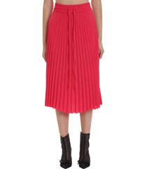 red valentino skirt in red viscose