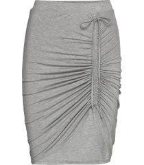 skirt knälång kjol grå rosemunde