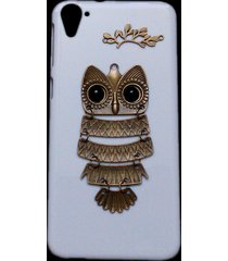 cute retro metal bronze owl branch hard back skin case cover for htc desire 826
