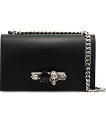 alexander mcqueen knuckle duster satchel bag - black