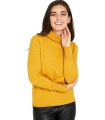 sweater cuello tortuga mostaza nicopoly