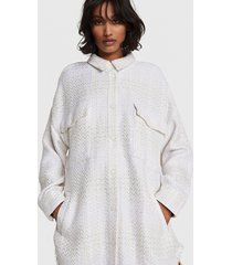 alix the label 2103457856 ladies woven oversized shiny boucle jacket