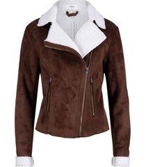 giacca di montone sintetico maite kelly (marrone) - bpc bonprix collection