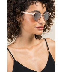 clean slate club master sunglasses - nude
