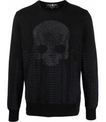 hydrogen stud-embellished sweatshirt - black