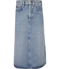 balenciaga denim skirt