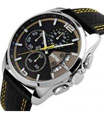 reloj hombre skmei 9106 yellow deportivo