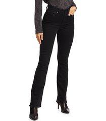 rag & bone women's nina high-rise jeans - no fade black - size 23 (00)