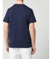maison kitsuné men's palais royal classic t-shirt - navy - xl