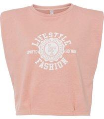 maglia lunga con spalline imbottite (rosa) - rainbow