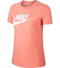 camiseta de mujer lifestyle nike w nsw tee essntl icon futura