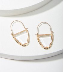 loft jeweled crescent hoop earrings