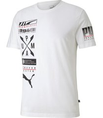 camiseta advanced graphic tee puma mujer 581914 02 blanco