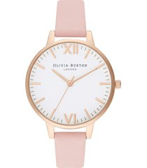 women's olivia burton timeless leather strap watch, 34mm