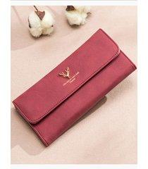 bolso estilo billetera hong wallet con diseño de ciervo adornado