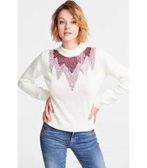 wełniany sweter z cekinami