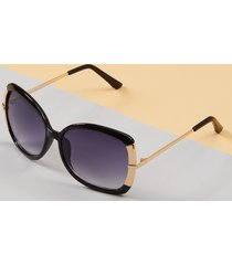 lane bryant women's butterfly sunglasses with metal arms onesz black