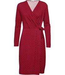 dress knitted fabric jurk knielengte rood gerry weber