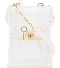 zac zac posen amelia phone crossbody bag - white