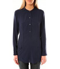 blouse vero moda alec l/s tunic w/out top pockets 10097849 bleu