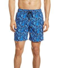 men's bugatchi ocean print swim trunks