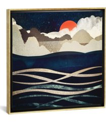 "icanvas midnight beach by spacefrog designs gallery-wrapped canvas print - 18"" x 18"" x 0.75"""