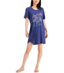 jenni short sleeve printed sleep shirt, created for macy's