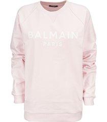 balmain logo-print sweatshirt