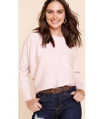 women's ophelia fine gauge sweater in blush by francesca's - size: m