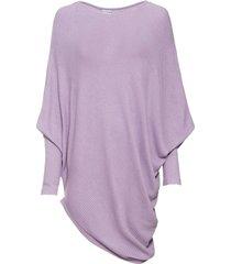 maglione oversize con fondo asimmetrico (viola) - bodyflirt
