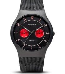 reloj bering 11939-229 hombre titanio negro